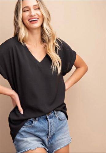 basic black v neck