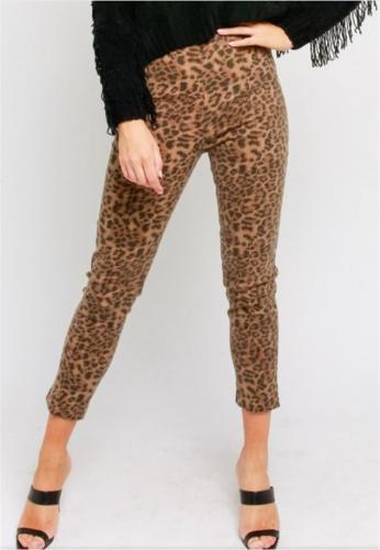 leopard pants front