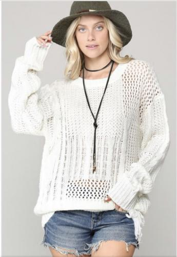 off white fringe sweater