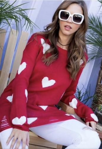 red heart sweater 1